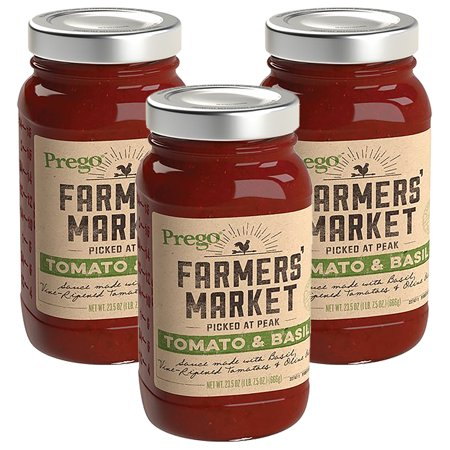 Plato Farmers Market Salmon - (3 Pack) Prego Farmers' Market Tomato & Basil Sauce, 23.5 oz.