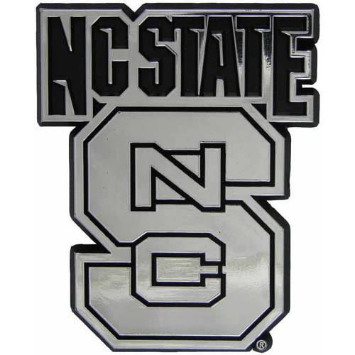 NCAA North Carolina State Chrome Emblem