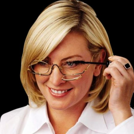 Eye Doctor Glasses (1.0-4.0x Magnifying Fold Flip Down Women Makeup Glasses Eye Mascara Make up Reading Glasses)