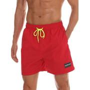 Men Swim Shorts Bottom Trunks Pants Board Shorts Boardshorts Summer Swimwear Swimsuit Beachwear Casual Surfing Swimming Costumes Bathing Suit Quick Dry XL-XS