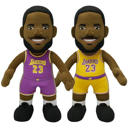 Bleacher Creatures NBA Los Angeles Lakers Lebron James Association and Icon Uniform Bundle Pack.. (Nba Team Patch)
