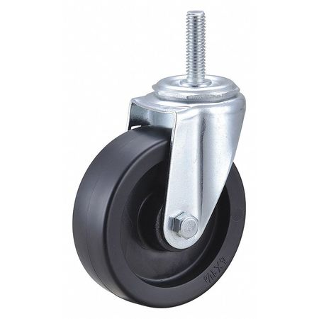 Swivel Stem Caster,Polyolfn,4 in,275 lb. ZORO SELECT 32J989