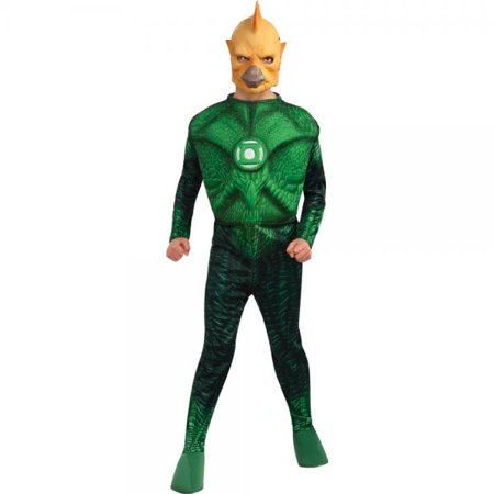 Green Lantern Child's Deluxe Tomar Re Costume with Muscle Chest - One Color - Small - Green Lantern Dog Costume