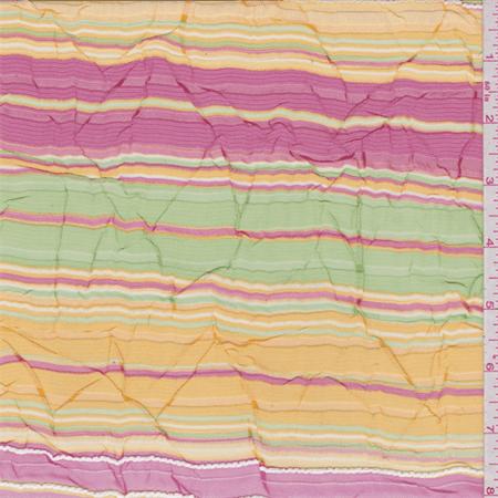 Fuschia Organza (Fuschia/Gold Stripe Organza, Fabric Sold By the)