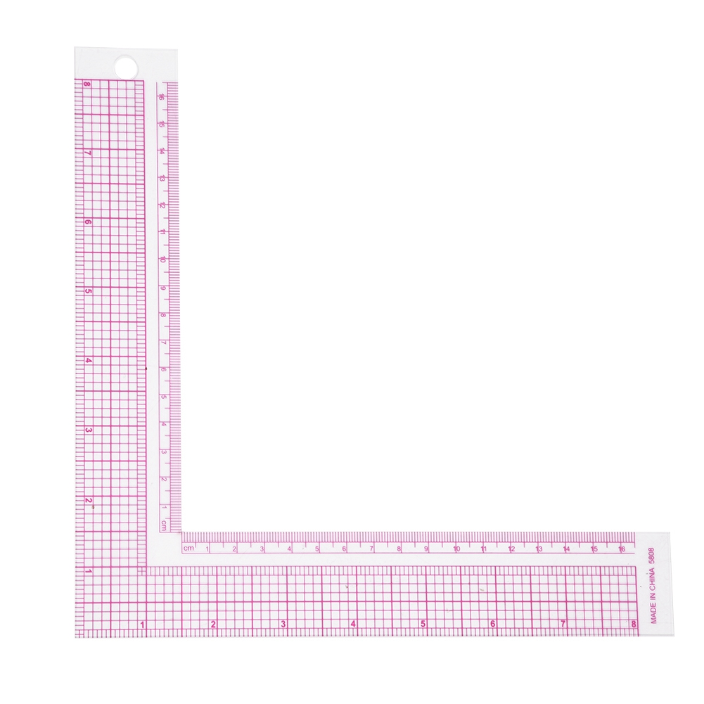 Plastic L-Square Ruler Sewing Measuring 90 Degree Professional Tailor Ruler Garment Pattern Dress Making Craft Tool French Curve 5808