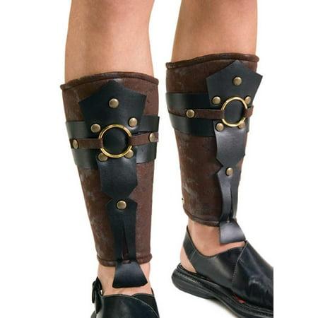 Roman Leg Guards Adult Halloween Costume Accessory - Roman Halloween Accessories