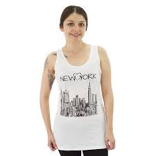 Devine 79 New York Sketch Juniors White Tank Top New Sizes S M