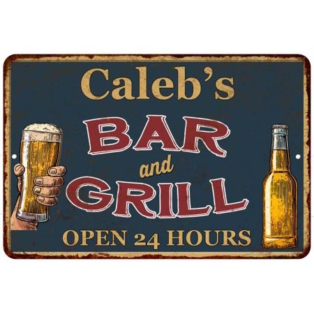 UPC 786359016472 product image for Caleb's Green Bar and Grill Personalized Metal Sign 8x12 Decor 108120044163 | upcitemdb.com
