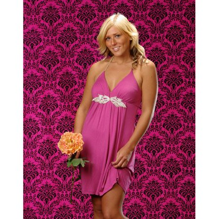 ™ 9 ft High X 5 ft Wide, Flocking Taffeta Photography Backdrop, Black On Fuchsia. Made in USA. Exclusively By, Direct from the Factory LA Linen ensures you.., By LA (You Ship Usa)