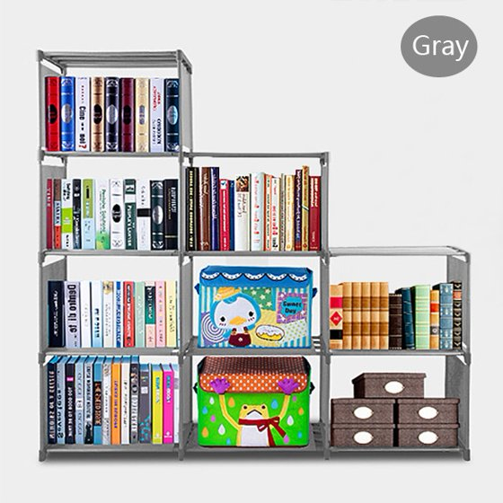 9 Shelf Bookcase Storage Furniture Bookshelf Bedroom
