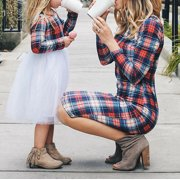 Family Matching Outfits Mother and Daughter Clothes Dress Girls Plaid Dresses Christmas