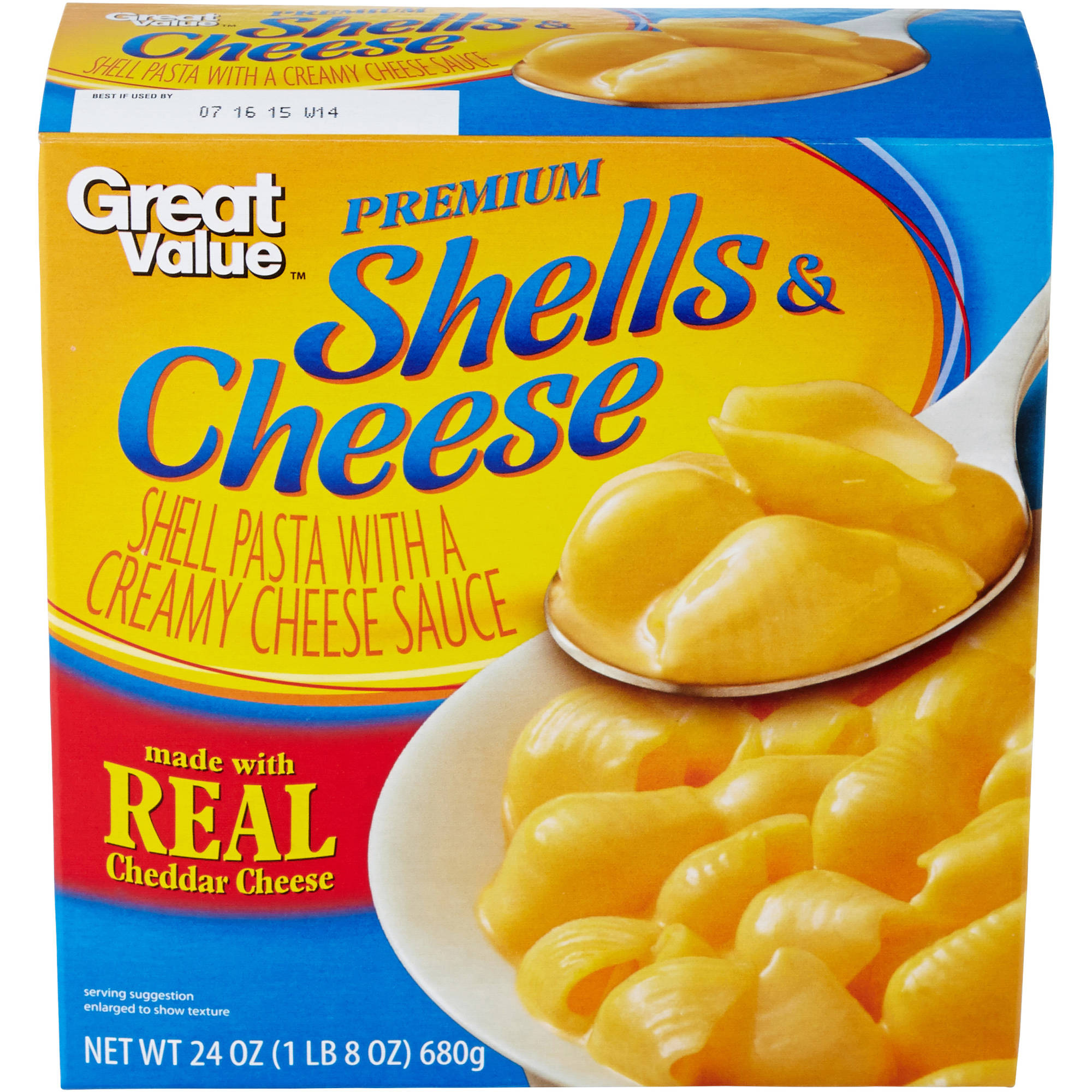 Great Value Premium Shells & Cheese, 24 oz