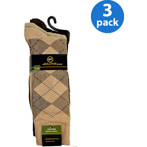 GT by Gold Toe Argyle Socks, 3-Pack
