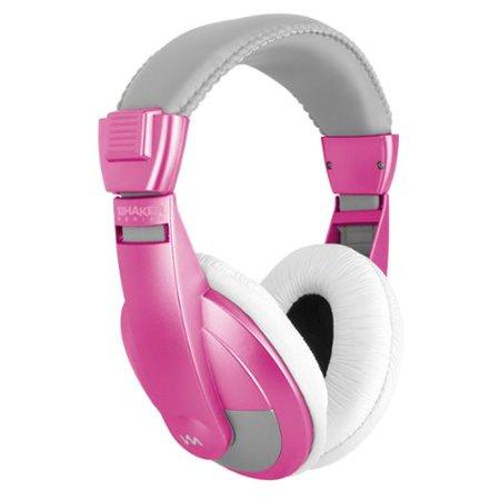 VM Audio SRHP15 Stereo MP3/iPhone iPod Over the Ear DJ Headphones - Pink