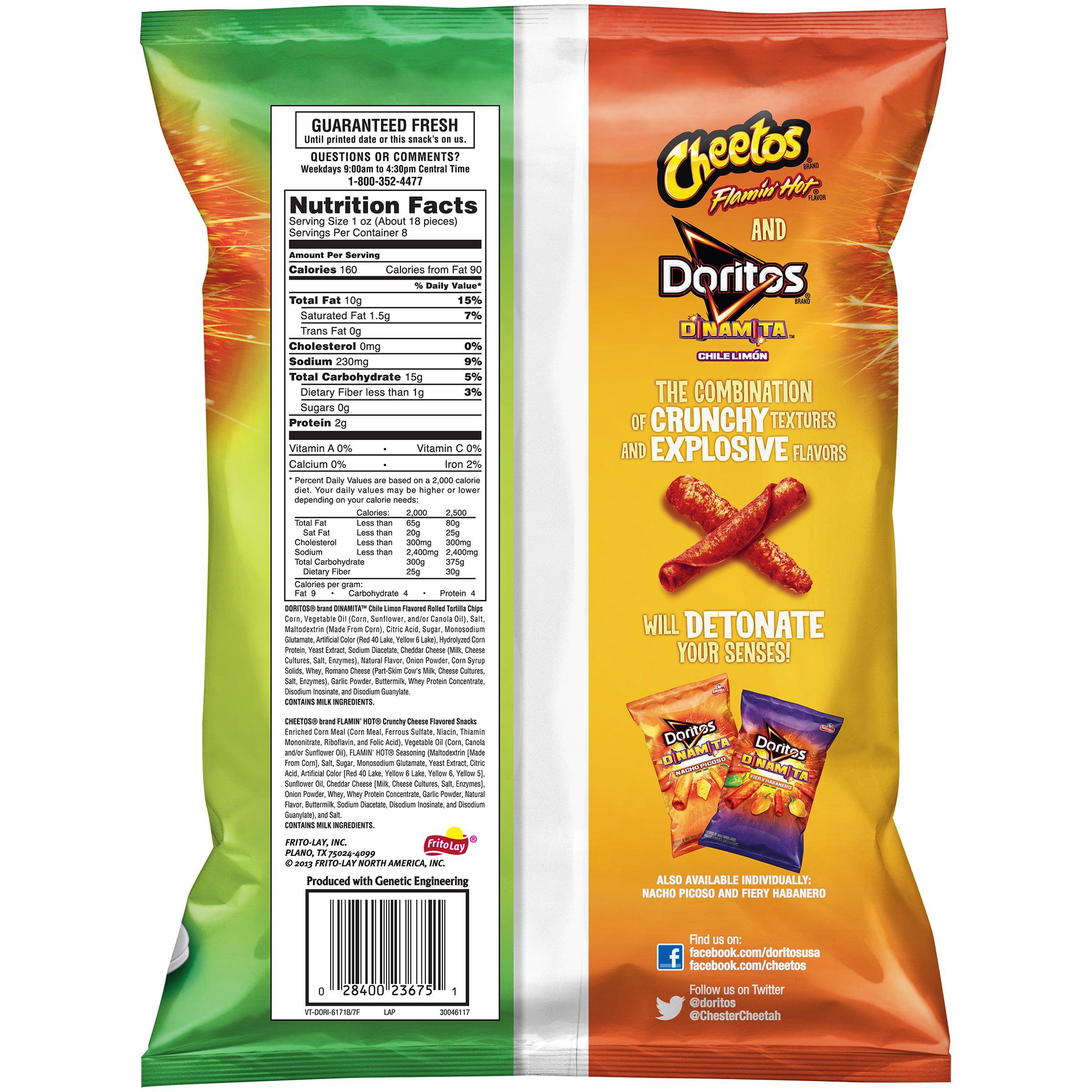 Cheetos, Flamin' Hot & Doritos Dinamita