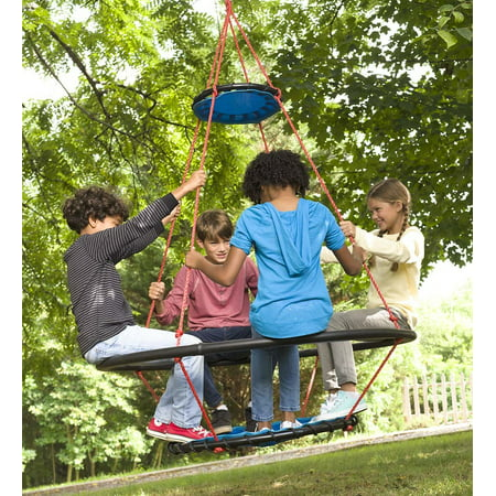 Vortex Spinning Ring Swing for Kids Outdoor Backyard - Spinning Gear Ring