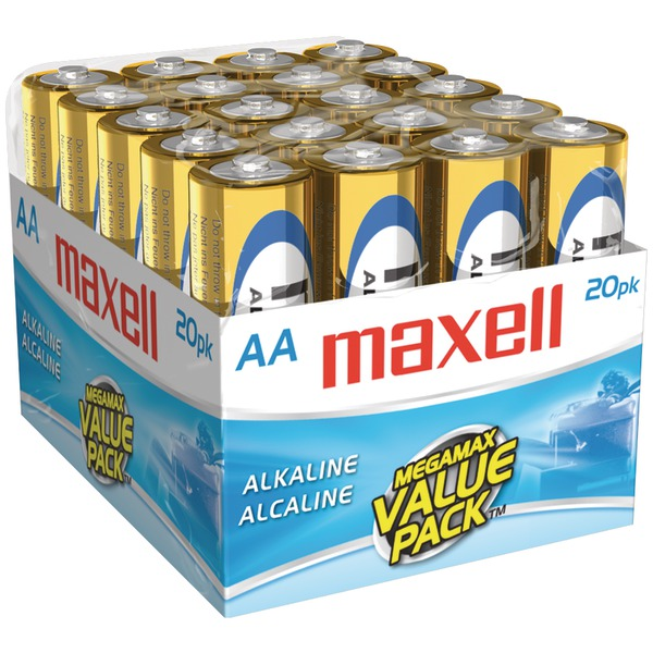Maxell(R) 723453 - LR620MP Alkaline Batteries (AA; 20 pk; Brick) - image 1 of 1