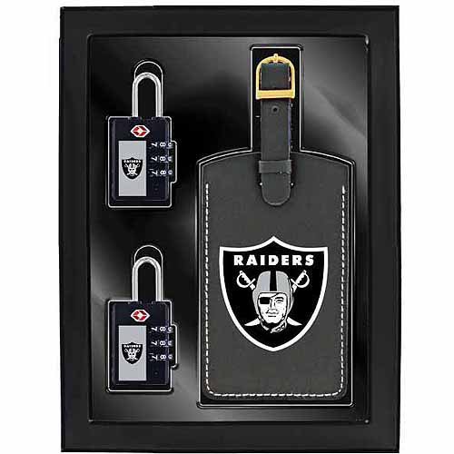 Aminco 3-Piece Luggage Security Gift Set, Raiders