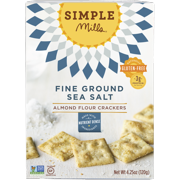 Simple Mills Fine Ground Sea Salt Almond Flour Crackers, 4.25 OZ (Pack of 6)