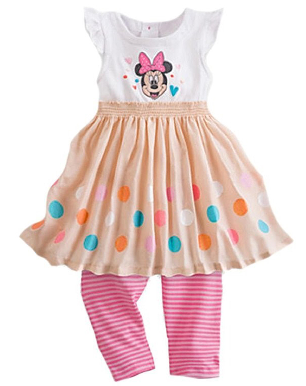 Disney Baby Girls' Minnie Mouse Knit Dress & Leggings Set