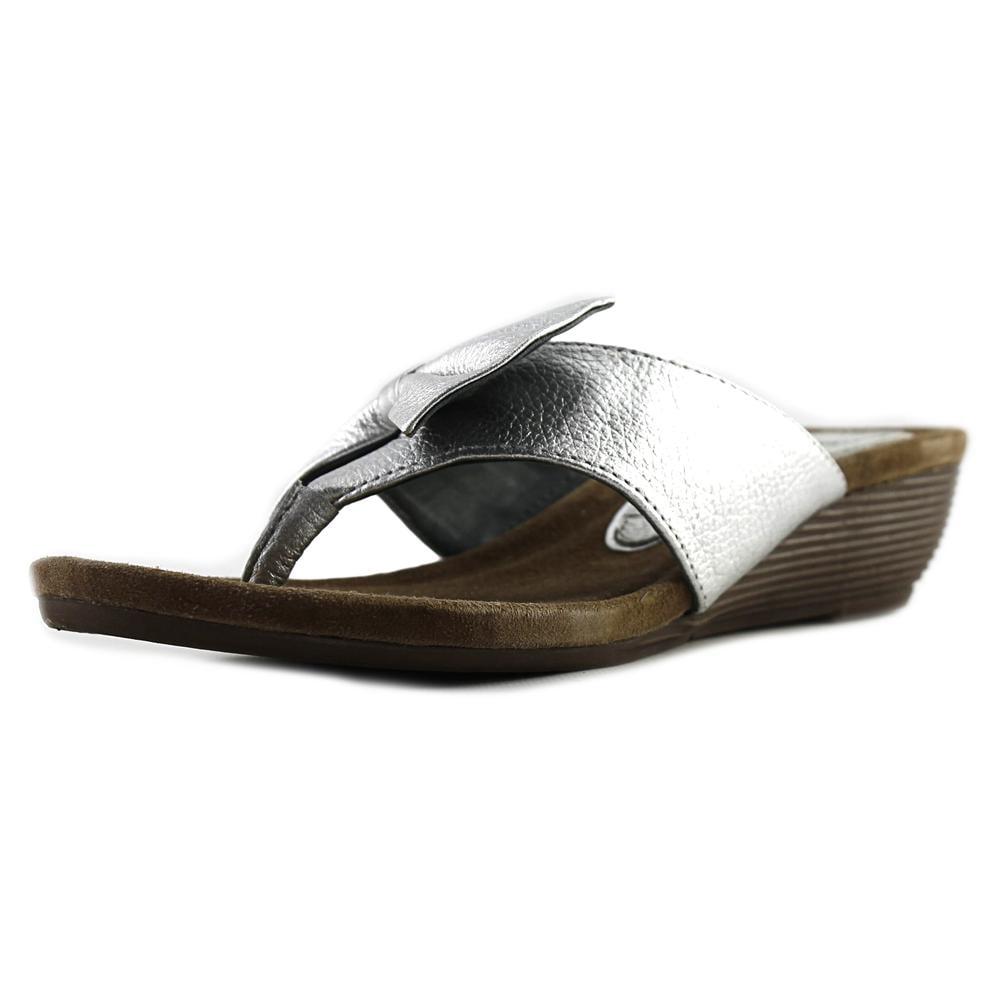 J. Renee Ayala Women Open Toe Leather Wedge Sandal by J. Renee