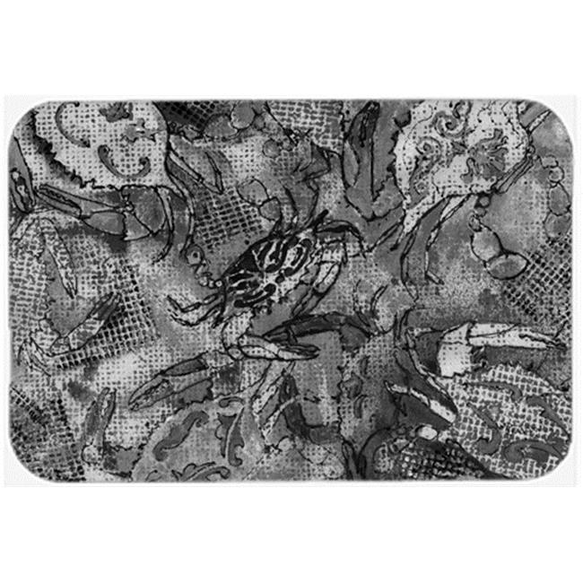 Grey Canvas Abstract Crabs Mouse Pad, Hot Pad & Trivet