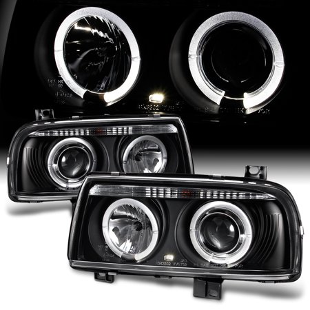 Fits 93-98 Jetta Mk3 Dual Halo Projector Headlights Lamps Lights Left+Right -