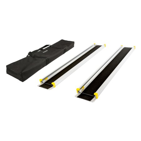 Silver Spring 4-7 ft. Telescoping Wheelchair Track Ramps with Storage (Wheelchair Track)