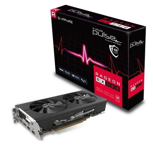 Sapphire Pulse Radeon RX 580 Graphic Card - 1.37 GHz Boos...