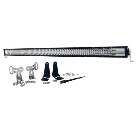 "T-Series 50"" OZ-USA Triple Row LED Light Bar Flood + Spot Beam with Security Hardware Kit Offroad 4x4 Truck"