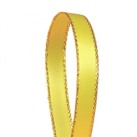Yellow Solid Color 3/8-Inch Gold Edge Ribbon, 50-Yards](Yellow Ribbons)