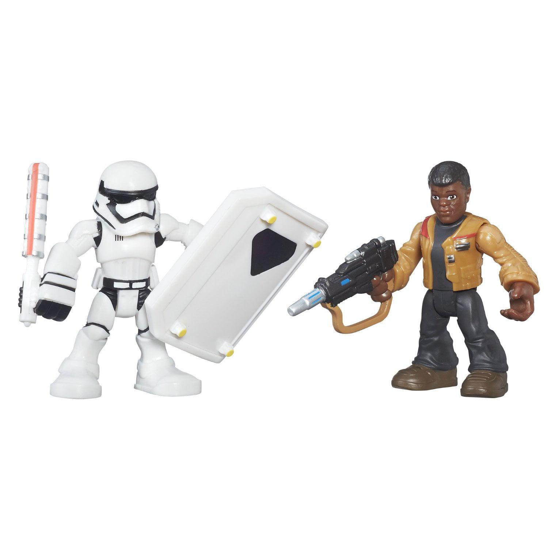 Playskool Galactic Heroes Star Wars Finn (Jakku) & First Order Stormtrooper by Hasbro
