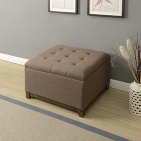 Fine Belleze Storage Ottoman Linen Bench Large Living Room Footrest Seat Tufted Charcoal Gray Uwap Interior Chair Design Uwaporg