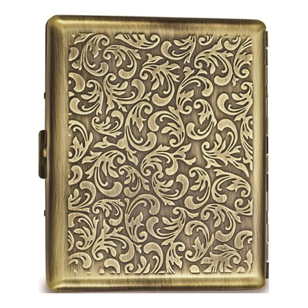 Antique Cigarette (Antique Gold-Tone (Holds 20) Cigarette/Card Case Designer Jewelry by Sweet Pea)