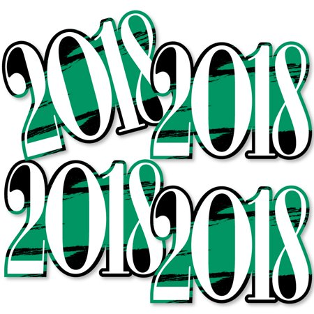 Diy Graduation Decorations (Green Grad - Best is Yet to Come - 2018 Decorations DIY Green Graduation Party Essentials - Set of)