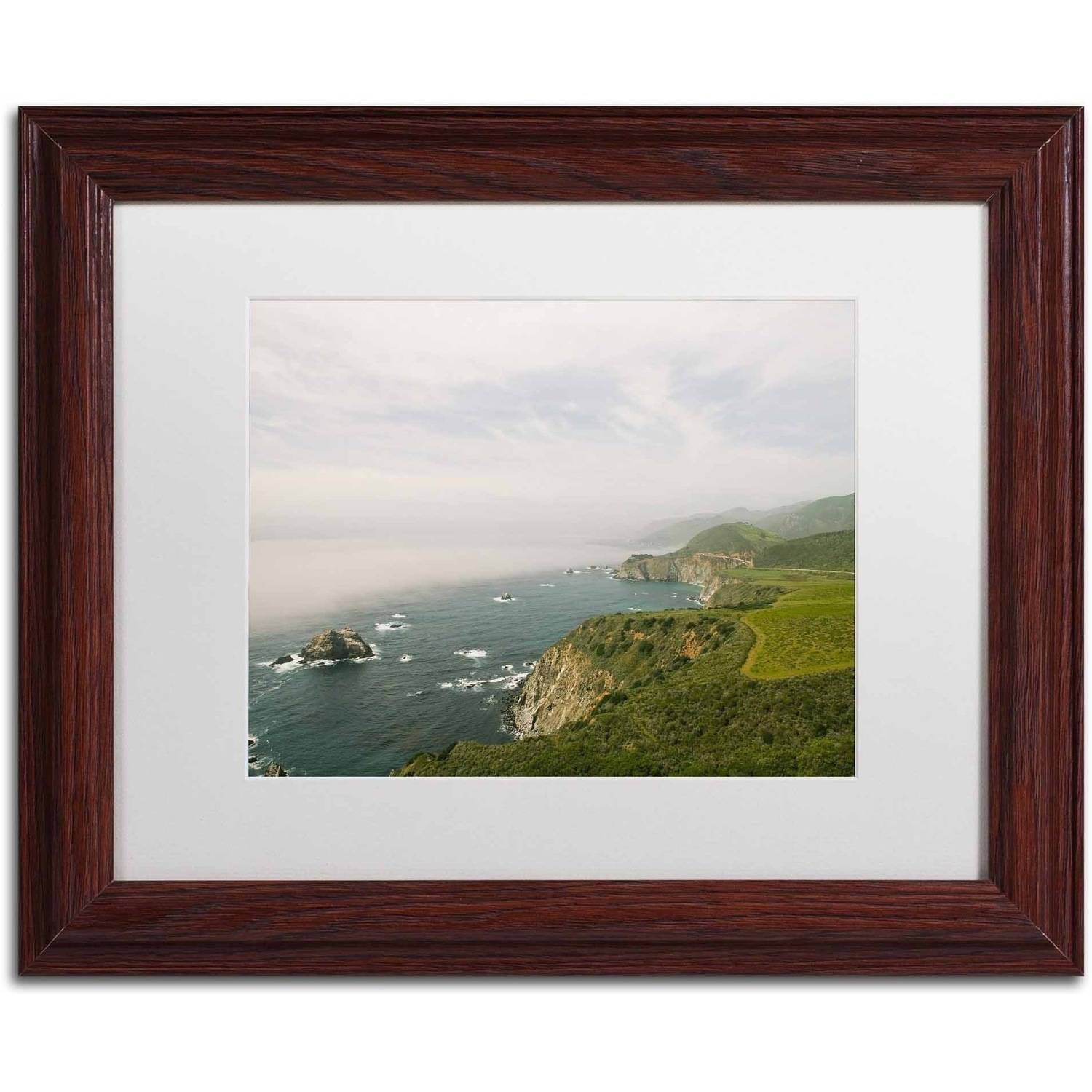 Trademark Fine Art 'Big Sur Coastal Daytime' Canvas Art by Ariane Moshayedi, White Matte, Wood Frame