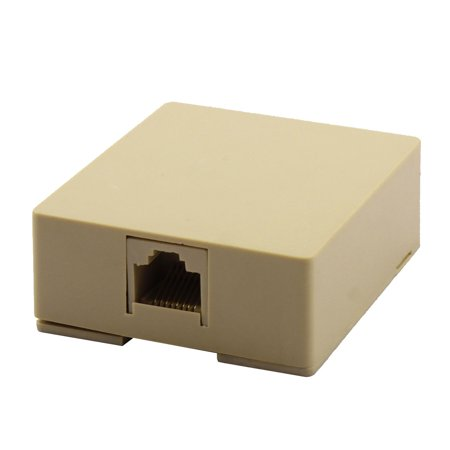 Unique Bargains RJ45 8P8C Cat5 Ethernet Network Cable Cord Wall Surface Mount Connector Box