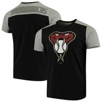 Arizona Diamondbacks Majestic Threads Color Blocked T-Shirt - Black/Gray