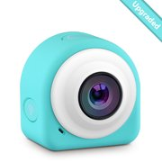 VicTsing COCA+ Mini Lifestyle Action Camera with 8 Mega Pixel COMS Image Sensor, 145 Degree Wide Angle Lens, 2.4G Remote Controller, WiFi Module and Magnetic Plates-Blue