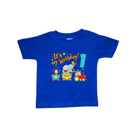 It's my Birthday- circus train 1st Birthday Baby T-Shirt (Today It's My Birthday)