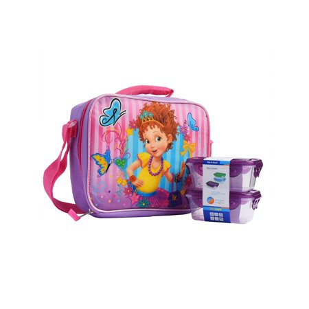 Fancy Presentation Box (Girls Fancy Nancy Insulated Lunch Bag w/ Shoulder Strap & Snack Container)