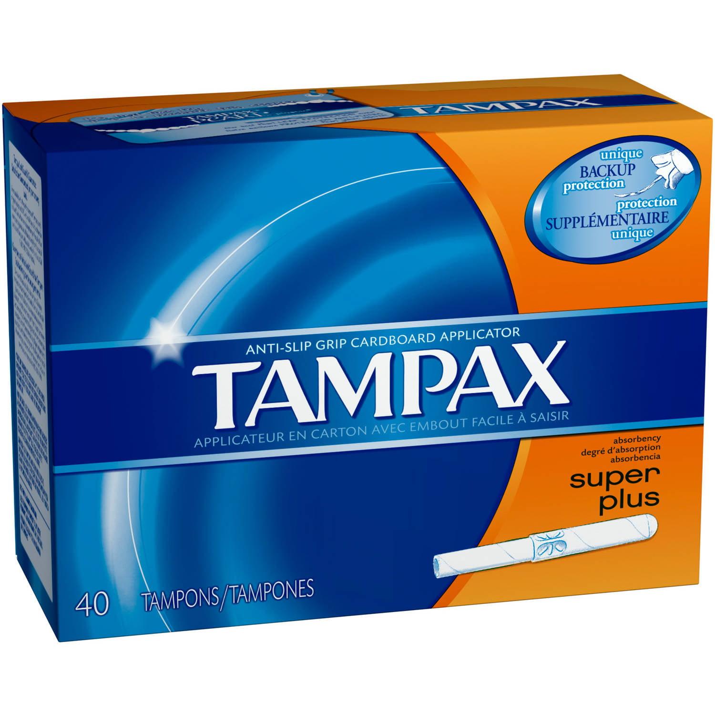 Tampax Anti-Slip Grip Cardboard Applicator Super Plus Absorbency Tampons, (Choose your Count)