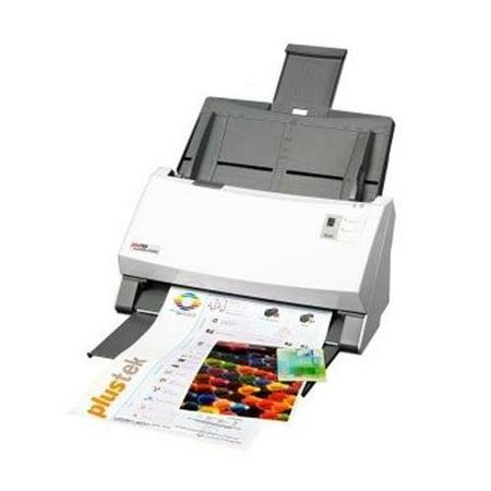 Plustek SmartOffice PS456U Duplex ADF Document Scanner, 600 dpi Optical Resolution, 80ppm/160ipm Scan Speed, 100