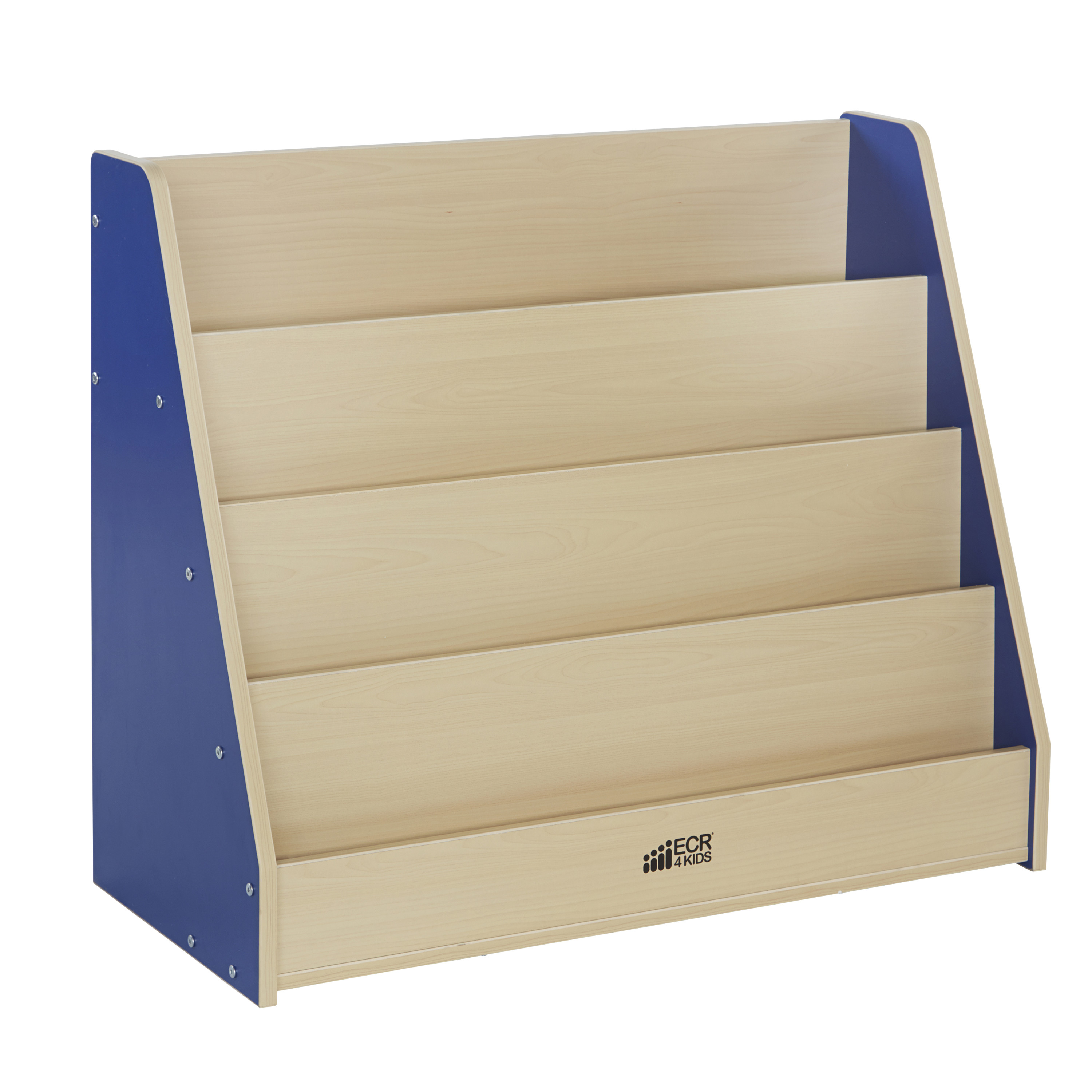 Ecr4Kids Colorful Essentials Kids Bookshelf, 4-Tier, Multiple Colors