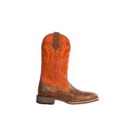 NOBLE 65028-122 MENS ALL AROUND REBEL ORANGE SQUARE TOE BOOTS 8.5 E US