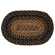 Ebony 10x15 Braided Rug Swatch