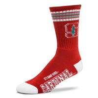 Stanford Cardinal For Bare Feet 4-Stripe Deuce Shin Socks - Men 10-13