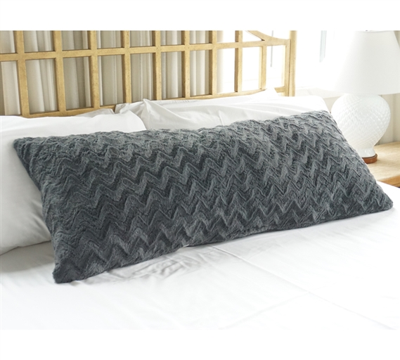 Plush Body Pillow - Steel Gray