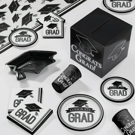 Graduation School Spirit White Deluxe Party Supplies Kit