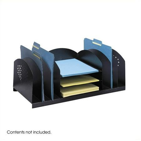 Scranton & Co Black Steel Desk Rack with 9 Sections - image 1 de 1